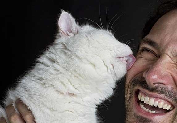 Cat Licks My Nose