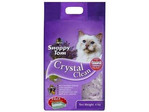 Crystal Clean Lavender Cat Litter 4kg â Snappy Tom
